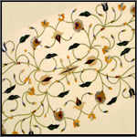 Inlay on marble - Intricate Inlay using natural & semi precious stones